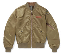 Reversible Shell Bomber Jacket - Green