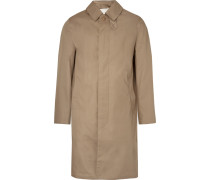 Storm System Bonded Cotton Trench Coat - Beige