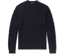 Marcos Slim-fit Cable-knit Merino Wool Sweater