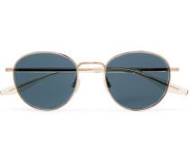 Tudor Round-frame Gold-tone Sunglasses