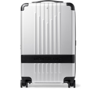 #my4810 Cabin Compact 55cm Leather-trimmed Polycarbonate Suitcase - Silver