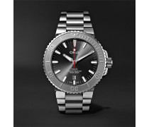 Aquis Date Relief Automatic 43.5mm Stainless Steel Watch - Black