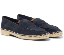Nacho Collapsible-Heel Suede Espadrille Loafers