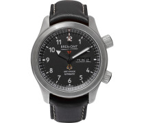 Mbii/or Automatic 45mm Stainless Steel And Leather Watch - Black