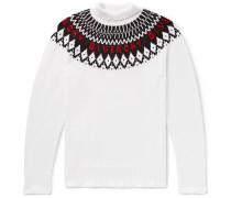 Logo-intarsia Wool Rollneck Sweater - White