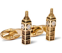 Big Ben Gold And Silver-tone Cufflinks