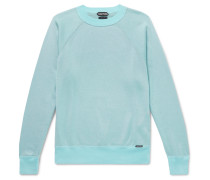 Stretch-knit Sweater - Blue
