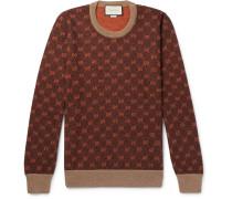 Logo-intarsia Wool And Alpaca-blend Sweater