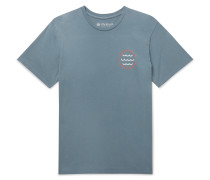 Harvest Moon Printed Garment-Dyed Cotton-Jersey T-Shirt