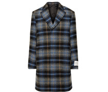 + Pendleton Oversized Checked Virgin Wool Overcoat - Blue
