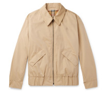 Reversible Checked Cotton-gabardine Blouson Jacket - Beige