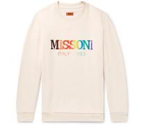 Logo-print Loopback Cotton-jersey Sweatshirt - Beige