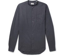 Premium Pat Grandad-collar Cotton Shirt