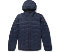 Brookvale Slim-fit Quilted Shell Hooded Down Jacket - Blue