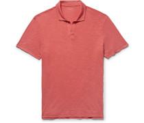 Slim-fit Slub Cotton-jersey Polo Shirt - Red