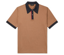 Contrast-Tipped Mercerised Cotton-Jersey Polo Shirt