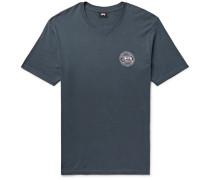 Dot Fade Logo-print Cotton-jersey T-shirt - Storm blue