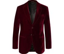 Claret Slim-Fit Velvet Tuxedo Jacket