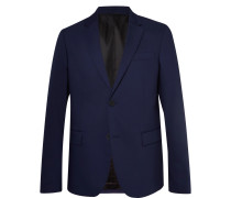 Navy Davide Slim-fit Wool-blend Suit Jacket - Navy