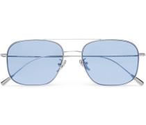 Aviator-style Palladium-plated Sunglasses
