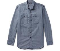 Cotton-chambray Shirt - Indigo