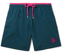 Moka Mid-length Embroidered Swim Shorts