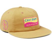 Logo-appliquéd Cotton-twill Baseball Cap - Yellow