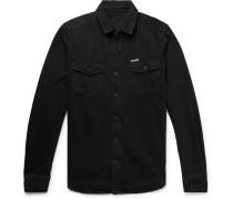 Logo-print Denim Shirt - Black