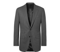 Dark-Grey Slim-Fit Wool Suit Jacket