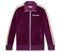 Webbing-trimmed Cotton-blend Velvet Track Jacket