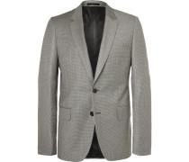 Grey Soho Slim-fit Houndstooth Wool Suit Jacket - Gray
