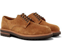 Suede Derby Shoes - Brown