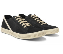 Geothrasher Leather-trimmed Suede Sneakers
