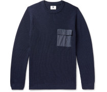 Phil Slim-Fit Ripstop-Trimmed Ribbed Merino Wool-Blend Sweater