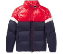 Konic Slim-Fit Colour-Block Quilted Shell Down Jacket