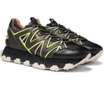 Lightning Leather Sneakers - Black