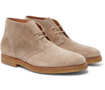 Waxed-suede Desert Boots
