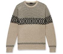 Merino Wool-Blend Jacquard Sweater
