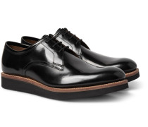 Lennie Polished-leather Derby Shoes
