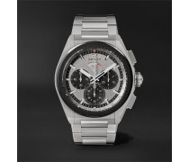 Defy El Primero 21 Automatic Chronograph 44mm Brushed-Titanium Watch, Ref. No. 95.9005.9004/01.M9000