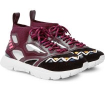 Heroes Reflex Suede, Leather And Mesh Sneakers