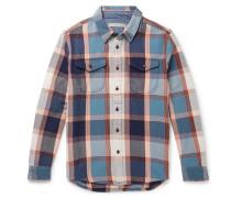 Blanket Appliquéd Checked Organic Cotton-Twill Overshirt