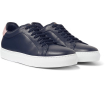 Basso Leather Sneakers - Navy