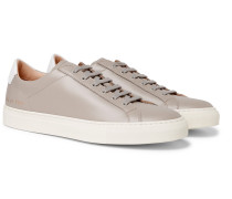 Achilles Retro Leather Sneakers - Gray