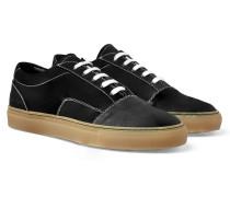 Cap-toe Canvas And Nubuck Sneakers