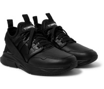 Jago Leather and Neoprene Sneakers