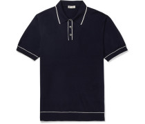 Tazio Contrast-tipped Merino Wool Polo Shirt