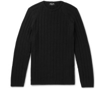 Slim-fit Ribbed Cashmere Sweater