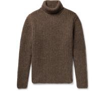 Alpaca-blend Rollneck Sweater - Brown
