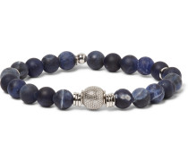 Stonehenge Sodalite Bead And Sterling Silver Bracelet
